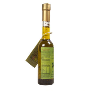 Flavored extra virgin olive oil with BASIL