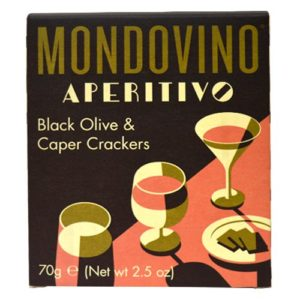 Mondovino Aperitivo Black Olive and Caper Crackers