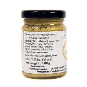 Strong savoury herbs Mustard