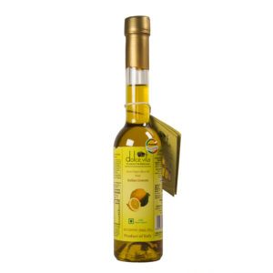 Flavored extra virgin olive oil with Lemon