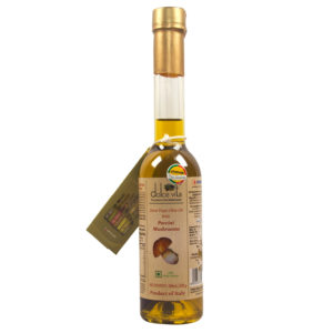 Flavored extra virgin olive oil with Porcini Mushrooms
