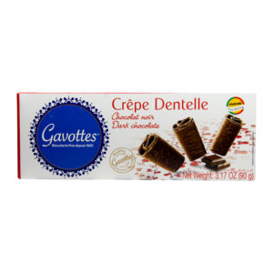 "Gavottes 18 Crispy "" Brittany Crepes"" Dark Chocolate Biscuits"