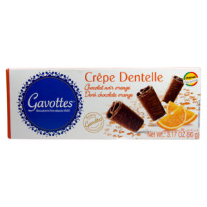 "Gavottes 18 Crispy "" Brittany Crepes"" Orange Flavoured Dark Chocolate Biscuits"