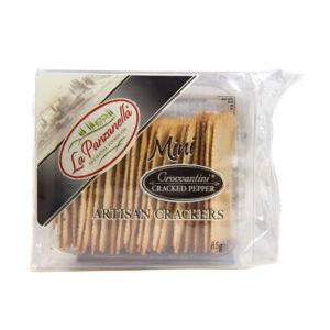 La Panzanella Mini Groccantini Cracked Pepper Artisan Crackers