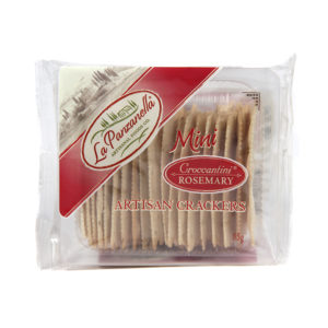 La Panzanella Mini Groccaantini Rosemary Artisan Crackers